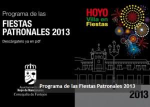 Programa de Fiestas de Hoyo de Manzanares 2013