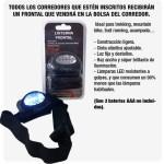 Los corredores recibirán una Luz Frontal, en la bolsa del corredor