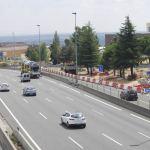 Ronda de acceso a Los Bomberos, en Torrelodones.