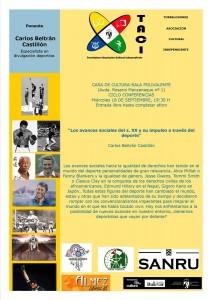 """Conferencia de TACI Torrelodones: """"Los avances sociales del s. XX y su impulso a través del deporte"""""""