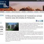 Nota del Ayuntamiento tras el rechazo de la propuesta del Equipo de Gobierno sobre el embalse de Peñascales