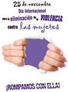 25 noviembre, Día Internacional para la eliminación de la violencia contra las mujeres