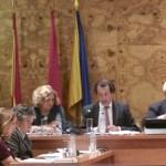 El portavoz de los populares, Javier Laorden durante el Pleno
