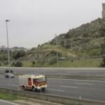 Los Bomberos ya se retiran tras actuar en el accidente A6 Km 29 18-11-2013