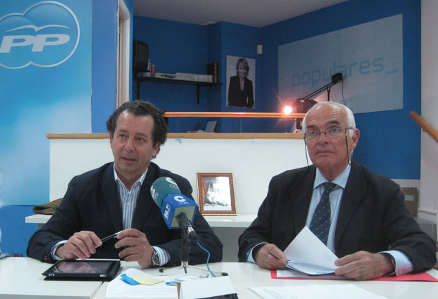 Portavoz del Grupo Popular y Concejal Responsable de Hacienda del Grupo Popular, Javier Laorden y Rodolfo del Olmo, respectivamente (Foto: Archivo)