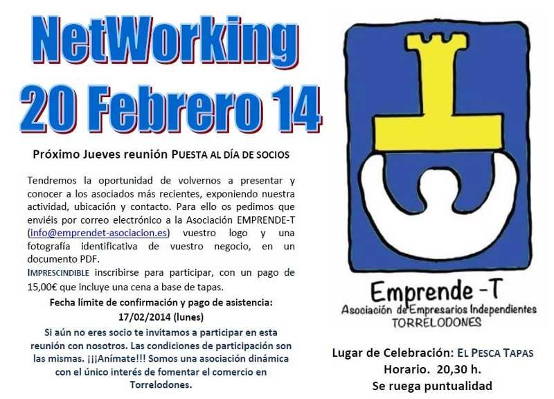 Reunión de NetWorking en El Pesca Tapas organizada por la Asociación Emprende-T