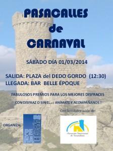 1 de Marzo: Pasacalles de Carnaval organizado por la Peña La Cucaña