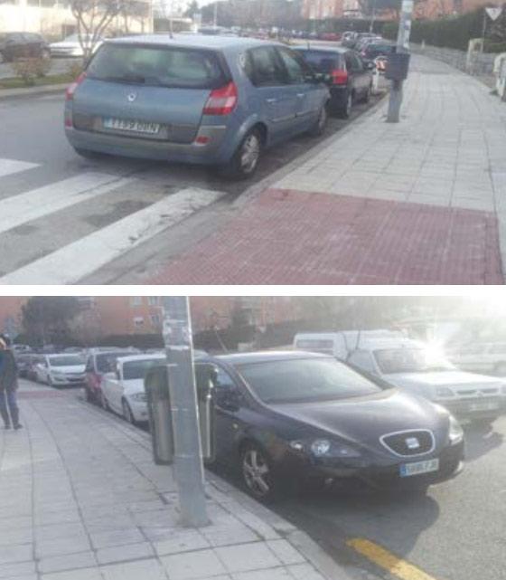 Ubicación propuesta para plazas de aparcamiento para alumnos con movilidad reducida