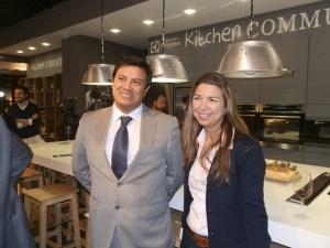 La presidenta de la AET, Sara Monge y Juan Núñez, presidente de AEHOM (Asociación de Empresarios de Hoyo de Manzanares)