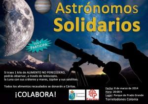Observación astronómica solidaria en la colonia de Torrelodones