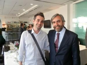 Sergio Orozco y Pablo Salazar, en el almuerzo-coloquio con el sector del deporte de Torrelodones