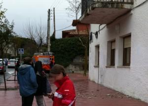 Pequeños desprendimientos del balcón de la Escuela de Idiomas de Torrelodones
