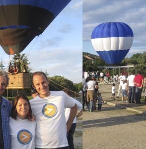 Globo original, en la fiesta de cierre de campaña de VxT