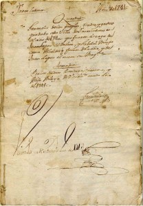 El Documento más antiguo del Archivo Municipal de Torrelodones es de 1741 (Cortesía de la Archivera Municipal)