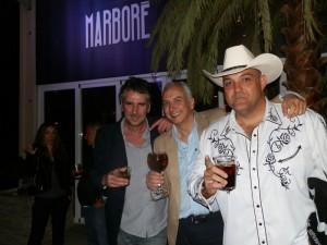 Antonio Montana, siempre de sombrero; Rafa Arango (Marboré) y Luis Bolín (La Unión), el pasado 23 de mayo 2014