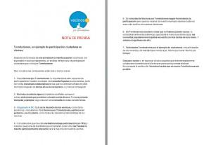 Nota de Prensa de VxT tras la Consulta Popular