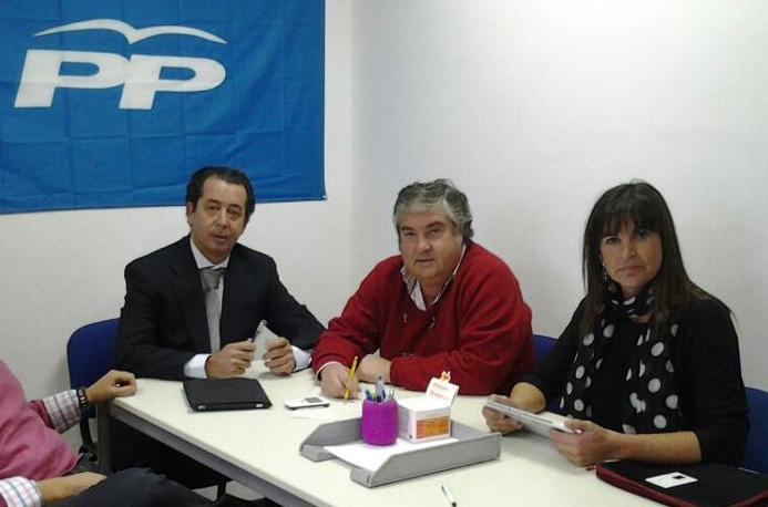 Javier Laorden, Arturo Martínez Amorós, Paula Sereno, del Grupo Municipal del Partido Popular de Torrelodones