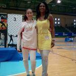 Vicky Pañeda y su maestra, Ile Duarte