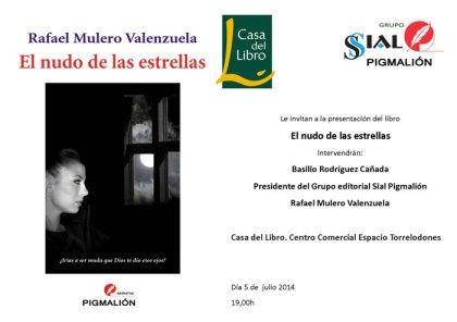 """Presentan hoy en Torrelodones la novela """"El nudo de las estrellas"""" de Rafael Mulero Valenzuela"""