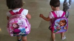 """Las pequeñas de Natalia y """"Poli"""" necesariamente deben ir a la guardería por las mañanas"""