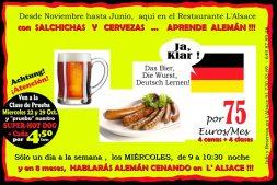 Aprender alemán en el restaurante L'Alsace con Fernando Ahumada Barth