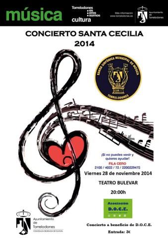 El Concierto de Santa Cecilia 2014 de la Banda Sinfónica Municipal de Música de Torrelodones será a beneficio de D.O.C.E.