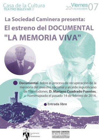 La Memoria Viva: Recuperando la memoria de D. Mariano Cuadrado, maestro nacional y alcalde republicano de Torrelodones