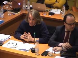 Los concejales de acTÚa y del PSOE, durante el Pleno del 13-1-15 (Foto: Captura de vídeo)