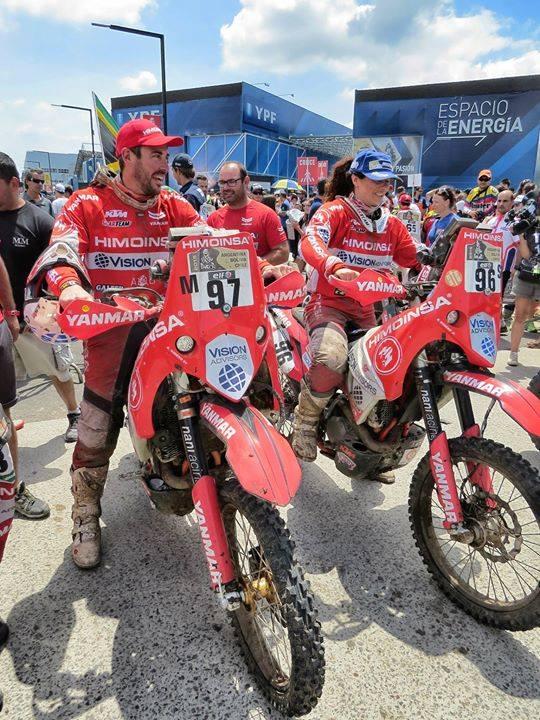 Podio Dakar 2015 - Equipo Himoinsa - Pilotos: Antonio Romero, Rosa Romero, Miguel Puertas.