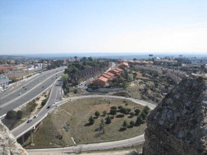 A-6 Carretera de La Coruña vista desde la Torre de Torrelodones