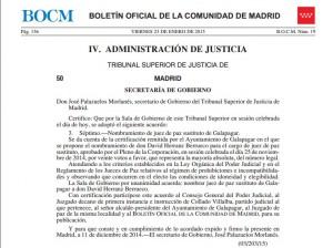 Nombramiento de D. David Herranz Berrueco nombrado Juez de Paz sustituto de Galapagar