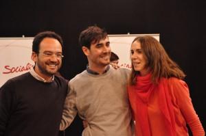 Antonio Hernando, Guillermo Martín y Mar Espinar