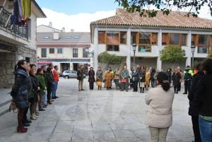 Minuto de Silencio en Torrelodones (Foto: Ayto. Torrelodones)