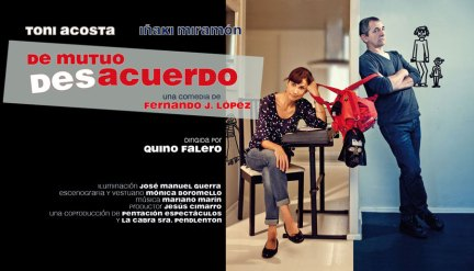 """Viernes 27 de marzo 2015 a las 20:00 h, en el Teatro Bulevar de la Casa de Cultura de Torrelodones, la comedia """"De mutuo desacuerdo"""""""
