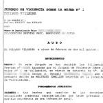 Auto Juzgado Villalba aceptando la causa