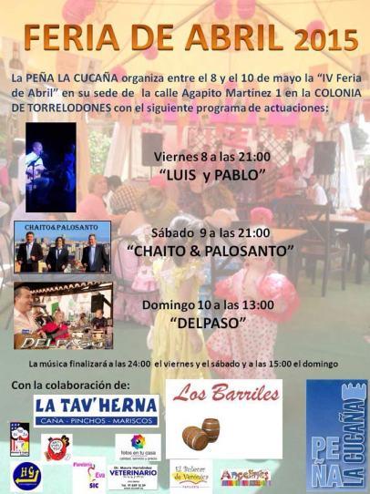 Programa Feria de Abril 2015 de la Peña La Cucaña de Torrelodones