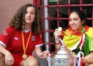 Irene Osorio y Sara Ezquerro, campeonas de España con la Selección de Fútbol de Madrid Sub 16