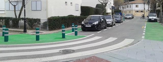 Obras de remodelación del entorno de la calle Los Ángeles (Foto: Psoe Torrelodones)