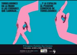 Imagen satírica que circula en las redes, basada en un cartel del ayuntamiento promocionando el Congreso Ciudades que Caminan 2016 que se celebra en Torrelodones