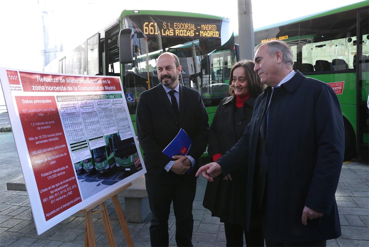La comunidad mejora servicio de autobuses interurbanos en for Madrid noroeste