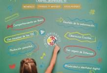 Cartel charlas gratuitas de concienciación sobre ciberseguridad, para centros educativos y sociales del probrama CIBERCOOPERANTES sobre ciberseguridad