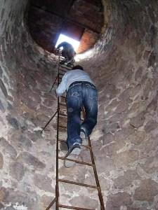 Escalera actual de la Torre de los Lodones