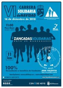 Cartel carrera Zancadas Solidarias del 16 de diciembre 2018 en Hoyo de Manzanares