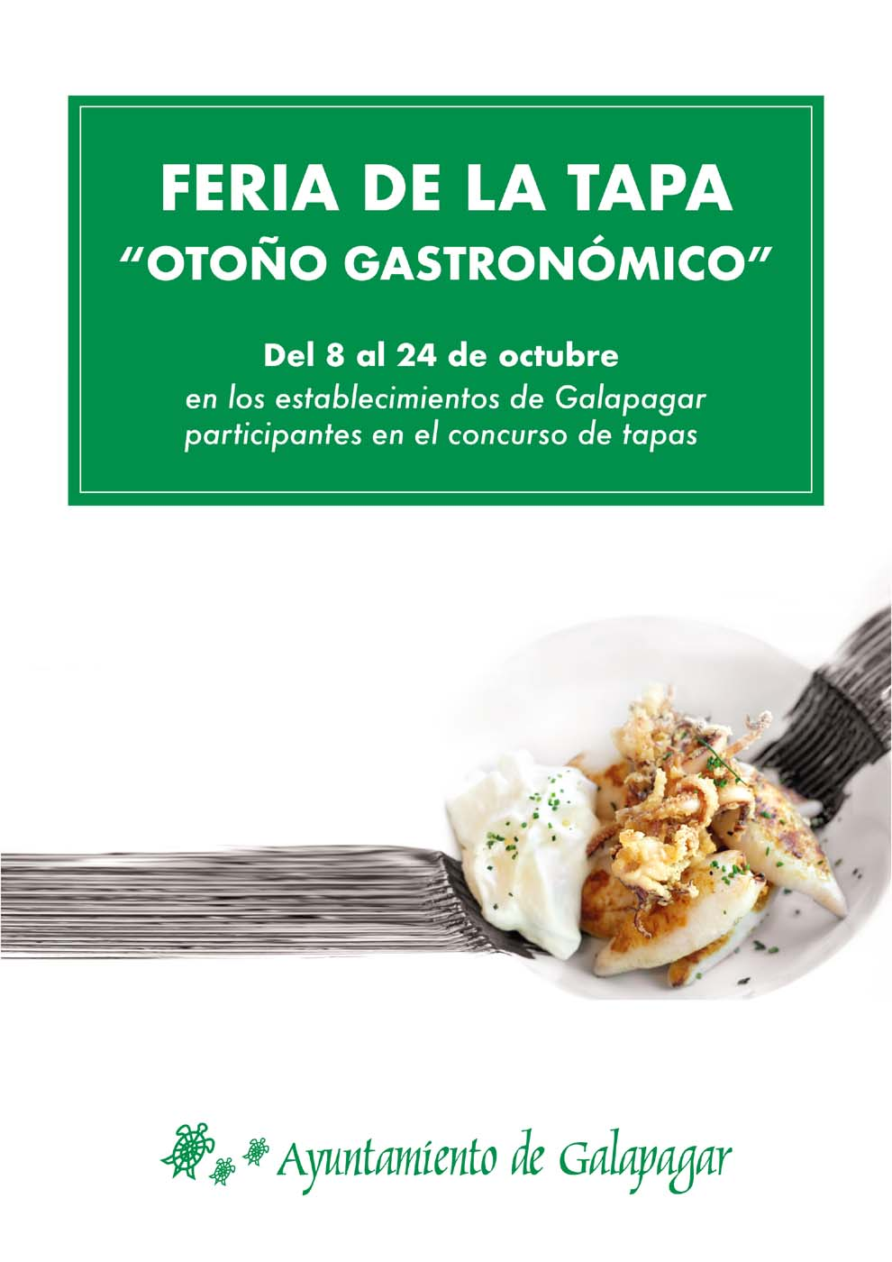 Cartel de la Feria de la Tapa de Galapagar 2021