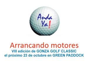 """Cartel VIII torneo de Golf """"Anda Ya"""" del 24 de octubre 2021"""