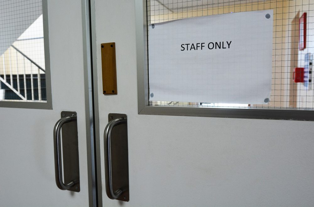 Staff only door sign