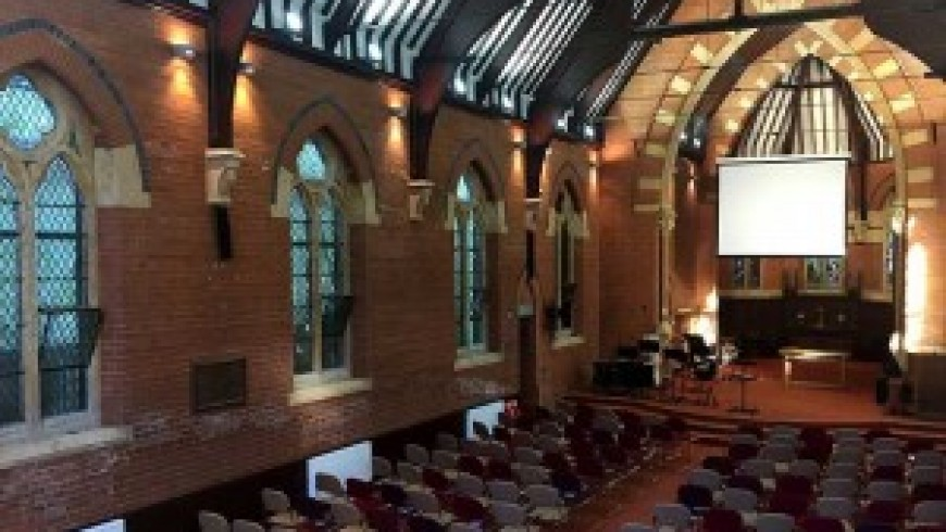 Crystal clear speech inside protected Birmingham church