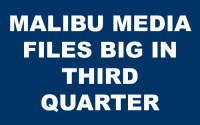 Malibu Media LLC Files Big for 2018's Third Quarter