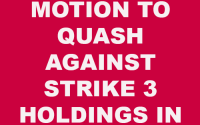 Motion to quash Strike 3 Holdings
