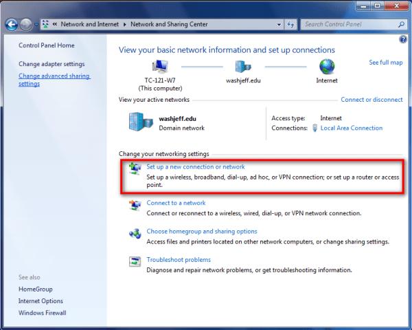 How to set up VPN in Windows 7
